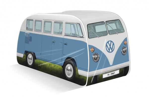 VW T1 Bulli Bus Kinder Pop Up Spielzelt - blau