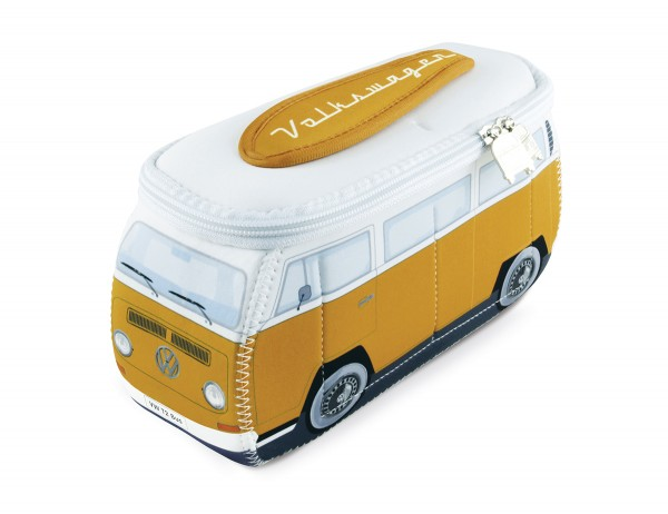 VW T2 Bulli Bus 3D Neopren Mäppchen - orange