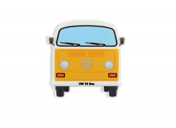 VW T2 Bus Rubber Magnet - Front/orange