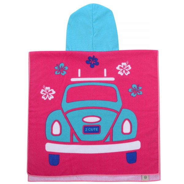 VW Käfer Kinder Bade Poncho – pink