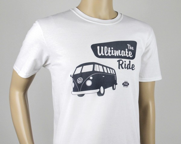 VW T1 Bus T-Shirt Unisex (L) - The Ultimate Ride/weiß