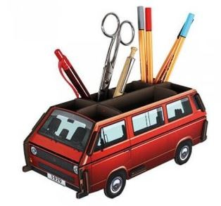 VW T3 Bulli Bus Stiftebox - rot