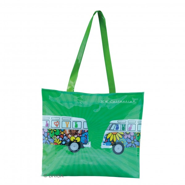 VW T1 Bulli Bus Shopper-Tasche PVC - Love Bus