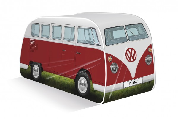 VW T1 Bulli Bus Kinder Pop Up Spielzelt - rot