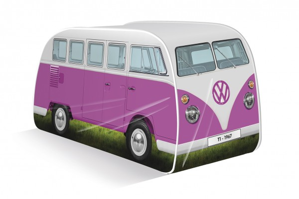 VW T1 Bulli Bus Kinder Pop Up Spielzelt - pink