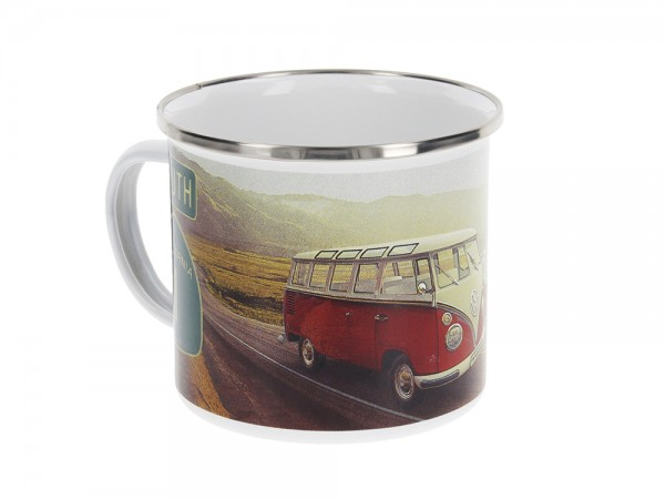 VW T1 Bulli Bus Tasse emailliert 500ml - Highway 1