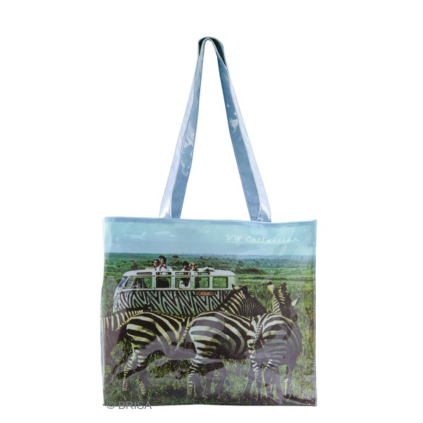 VW T1 Bulli Bus Shopper-Tasche PVC - Safari