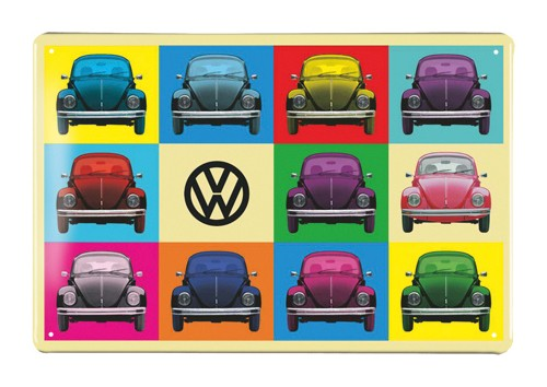 VW Käfer Blechschild 30x20cm - Multicolor