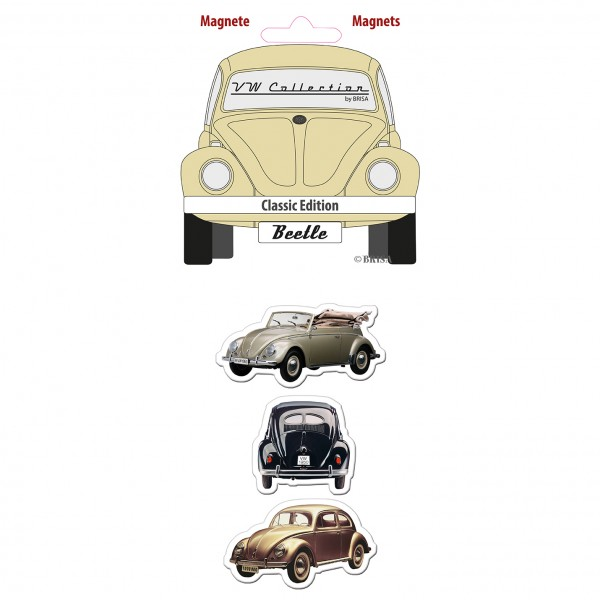 VW Käfer Magnet 3er Set - Classic