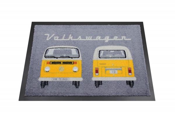 VW T2 Bus Fußmatte, 70x50 cm - Front & Heck/orange