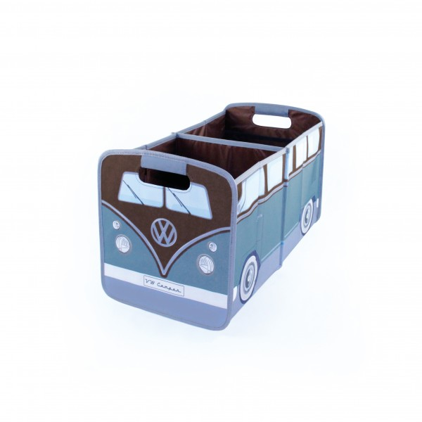 VW T1 Bus Faltbox - petrol/braun