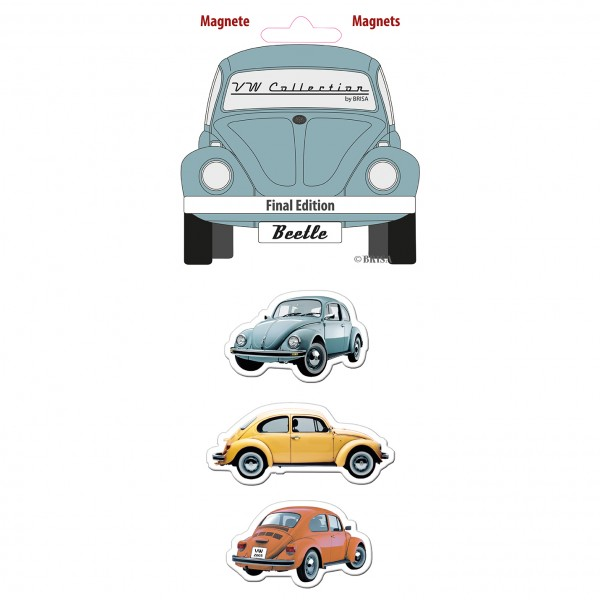 VW Käfer Magnet 3er Set - Final Edition
