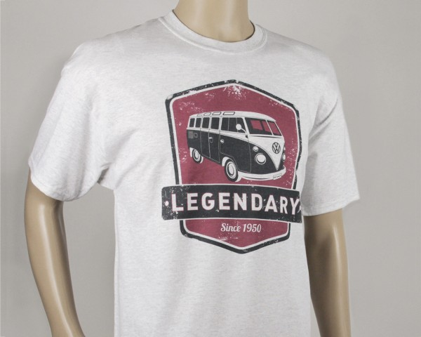 VW T1 Bulli Bus T-Shirt Unisex (XL) - Legendary/rot&grau