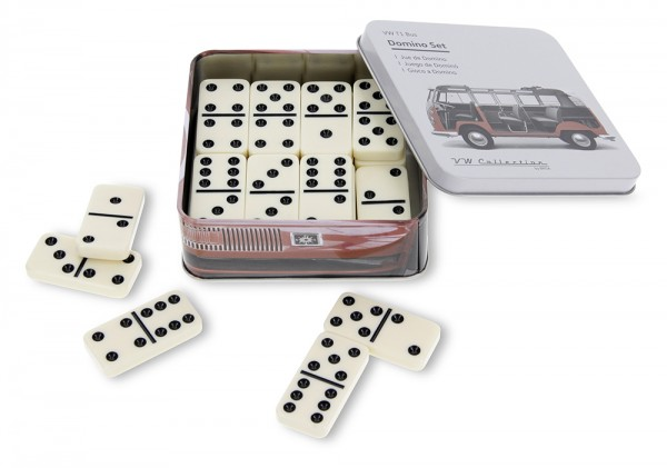 VW T1 Bulli Bus Domino Set in Metalldose